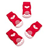 #1: Pet Heroic Anti-Slip Knit Dog Socks&Cat Socks with Rubber Reinforcement, Anti-Slip Knit Dog Paw Protector&Cat Paw Protector for Indoor Wear, Suitable for Medium Dogs&Cats
