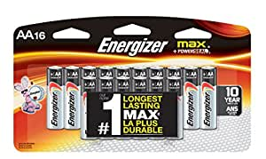 Amazon.com: Energizer Max AA Batteries, 16-Count: Health