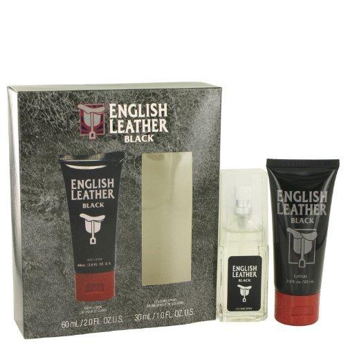 English Leather Black by Dana Men's Gift Set -- 1 oz Eau De Cologne Spray + 2 oz Body Lotion - 100% Authentic