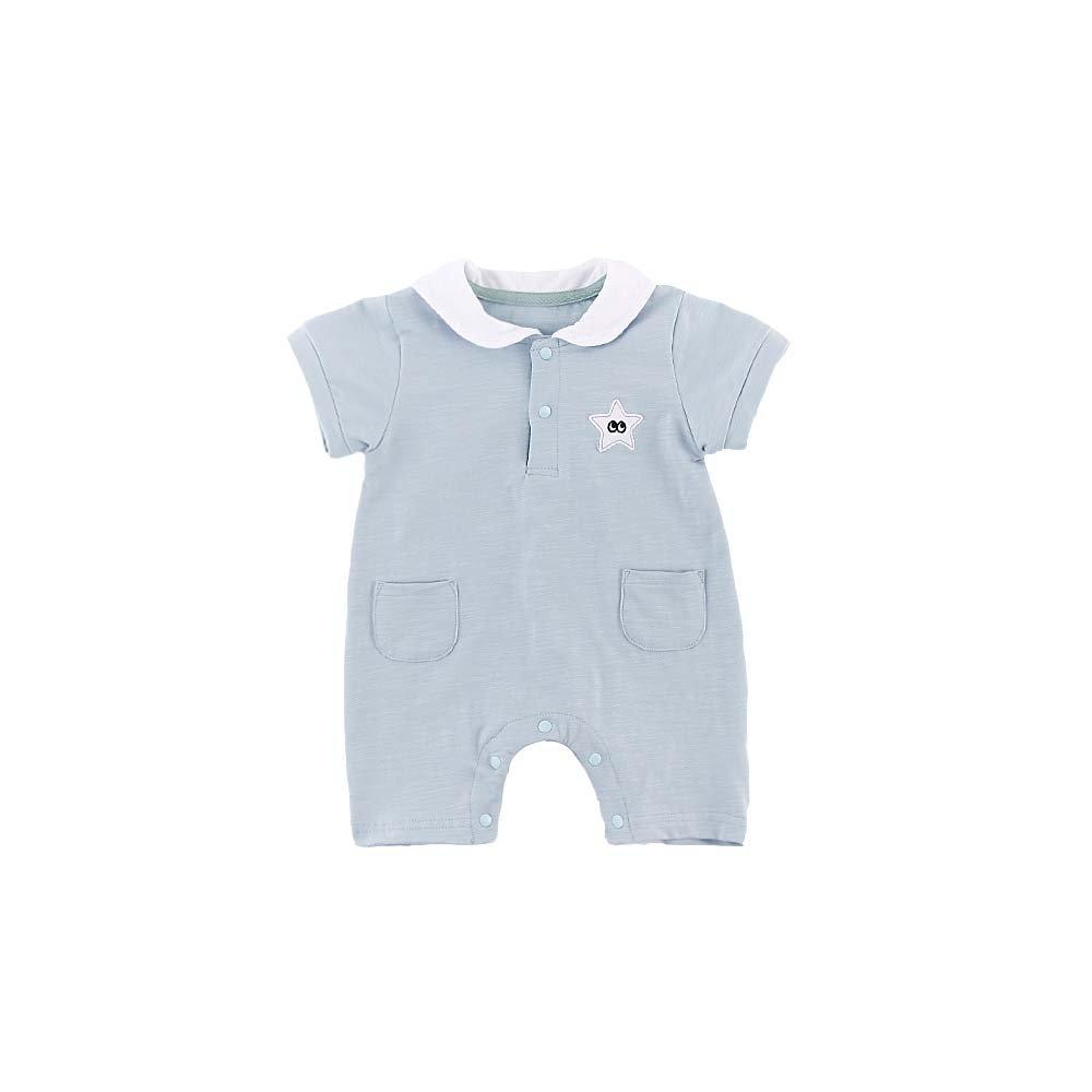 Babyhood Baby Grils Sleep Jumpsuit Pajamas Kids Boys Sleepwear Playsuit Sleeveless Infant Spring-Summer Coverall Outfit Blue