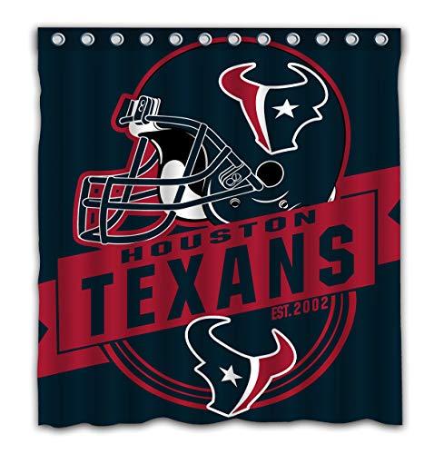 Felikey Custom Houston Texans Waterproof Shower Curtain Colorful Bathroom Decor Size 66x72 Inches