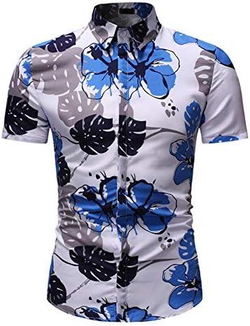 TOUSHI Camisa de Manga Corta para Hombre Camisa Floral Hombres Camisa Corta con Estampado Hawaiano Playa Deportiva Blusa De Secado Rápido Top Hombre Camisetas para Hombre Ropa para Hombre Camisa: Amazon.es: Deportes