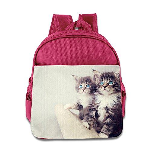 MYKKI Cute Kittens Children Funny Lunch Bag Pink