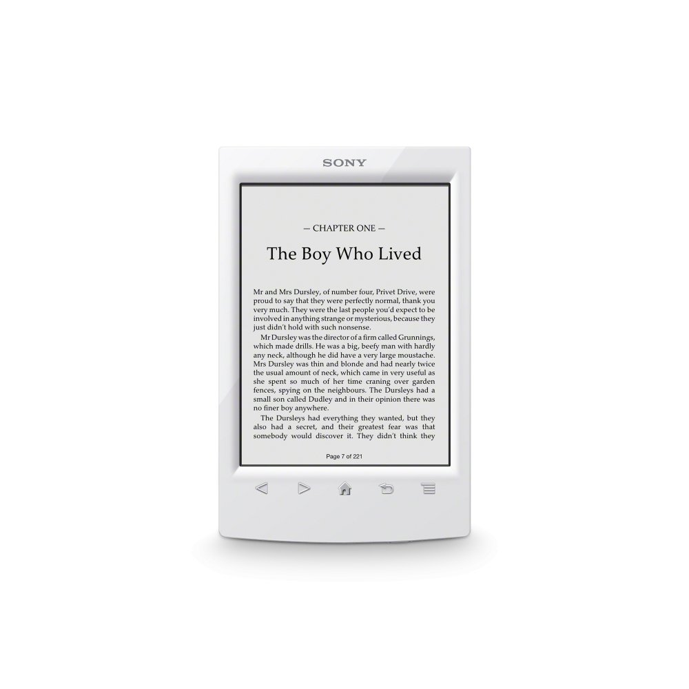Sony PRS-T2 6'' Touchscreen Digital eBook Reader w/E-Ink Technology, Built-in Wi-Fi & microSD Card Slot (White)