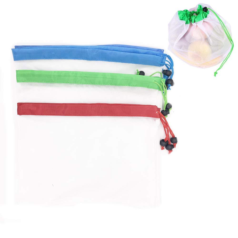 SOKOYO Premium ré utilisables en Maille/Produire des Sacs 9pcs, Trois Grand, Trois Medium, Trois Petit (9pcs) Reusable Mesh Produce Bags