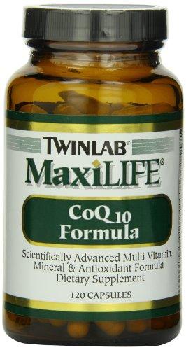Twinlab MaxiLife CoQ10 Formula, 120 Capsules