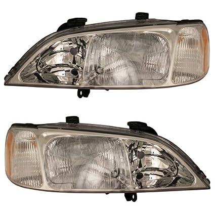 Amazon 1999 2000 2001 Acura TL Headlight Headlamp Halogen Composite Front Head Light Lamp Pair Set Right Passenger AND Left Driver Side 99 00 01