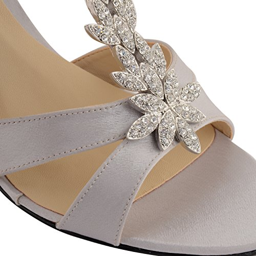 Footwear Sensation - Sandalias de vestir para mujer Marrón marrón Marrón - plata