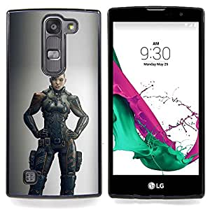 - Warrior Woman Grey Hero Game - - Snap-On Rugged Hard Cover Case Funny HouseFOR LG Volt 2 / LG G4 Mini (G4c)