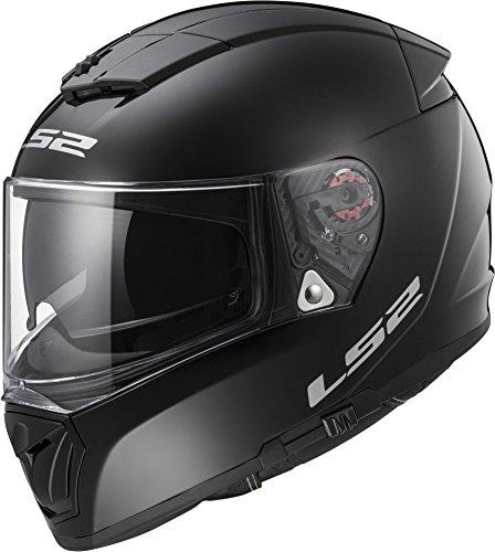 LS2 Helmets Unisex-Adult Full Face Helmet (Gloss Black, X-Small) (Breaker)