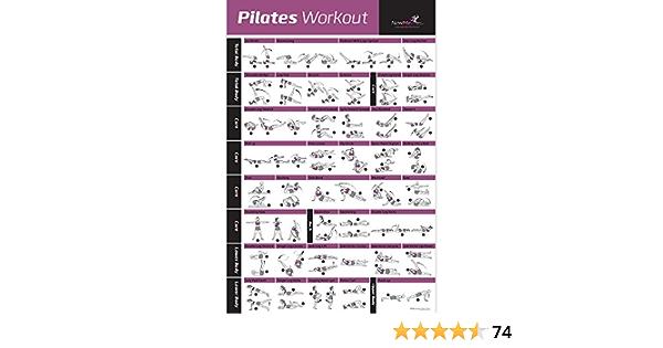 NewMe Fitness Pilates Pose Póster con Instrucciones de Ejercicio – Premium gráfico del Principiante de Instrucciones para secuencias y Flujo – 70 ...