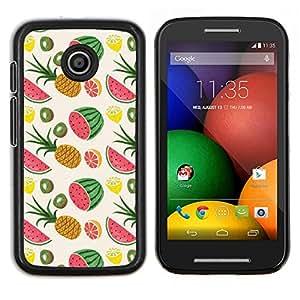 Stuss Case / Funda Carcasa protectora - Patrón Piña Weed Frutas - Motorola Moto E