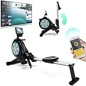 Well-Being-Matters 51ky1LBkIVL._SS300_ Bluefin Fitness Blade Air Rowing Machine | Home Use Foldable | Dual Magnetic + Air Resistance Rower | Kinomap | Live…