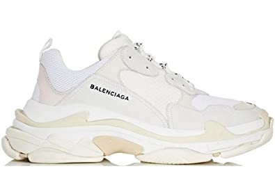 9b600f9ba Image Unavailable. Image not available for. Colour: TOPSHOD Unisex Mens  Womens Balenciaga Triple S Sneakers White