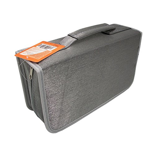 Yamde Portable 128 CD case Disc Storage Case Bag CD/ DVD Wallet for Car,storage,holder,booklet,cases binder,Home, Office and Travel(silvery)