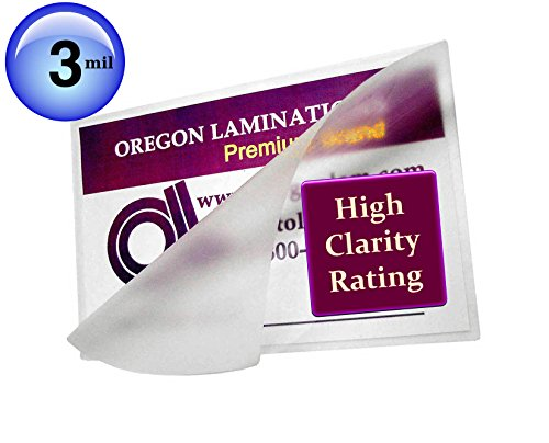 Oregon Laminations Premium 3 Mil 18x24 Map size Hot Laminating Pouches 18 x 24 (Pack of 100) Clear (Mounting Laminator)