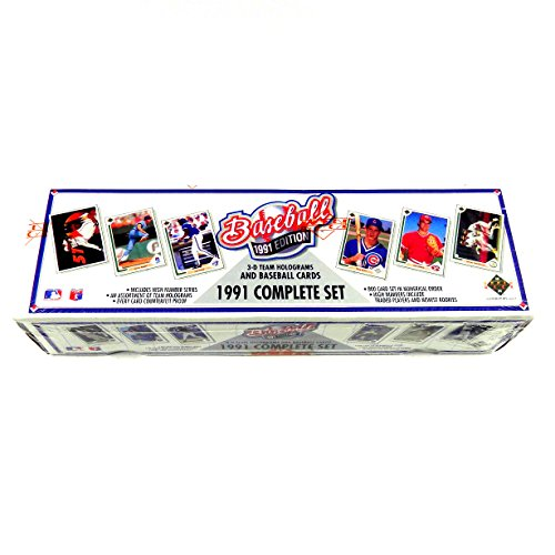 Upper Deck 1991 MLB Baseball Cards Complete Factory Set (800 cards)