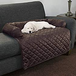 "PETMAKER Furniture Protector Pet Cover with Bolster in Brown for Dogs, 35"" L X 35"" W, Large"