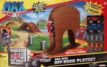 24 Piece Max Tow Truck Max Mini Off-Road Playset by Max Tow (Tow Truck Playset)