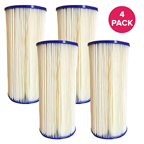 Think Crucial Replacements for GE FXHSC Whole House Pre-Filtration Sediment Filter, Also Fits Culligan R50-BBSA, Pentek R50-BB & Dupont WFHDC3001 (4 Pack)