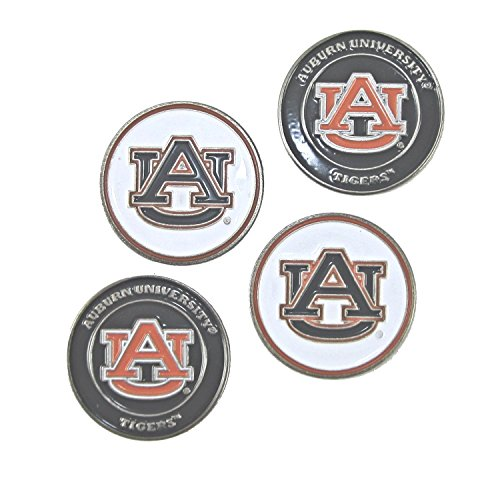 Auburn Tigers Double Sided Golf Ball Markers (Set of Four) ()