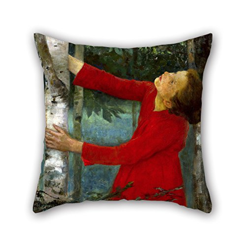 [Elegancebeauty Oil Painting Ferenczy, Károly - Birdsong Throw Cushion Covers 18 X 18 Inches / 45 By 45 Cm Best Choice For Kids Room,wife,boy Friend,kids Boys,teens,pub With Two] (National Costume Of All Countries)