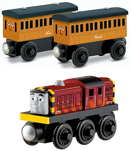 Fisher-Price Thomas the Train Wooden Railway - Annie / Clarabel AND Salty (Sodor Bakery Delivery)