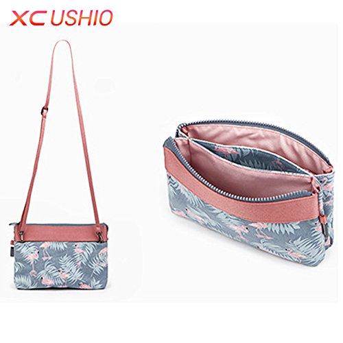 Generic Blue: Simplicity Series inclinato borsa a tracolla casual piccolo donne borsetta per bambini da ragazza Crossbody borsa a tracolla organizer