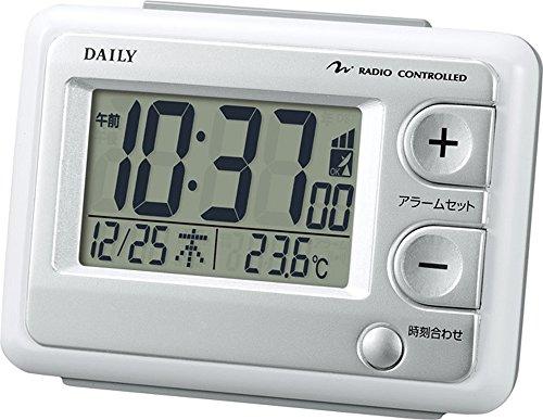 리듬 시계 자명종 전파 디지탈 저스트 웨이브R095DN 온도 캘린더 표시백 DAILY (데일리) 8RZ095DN03