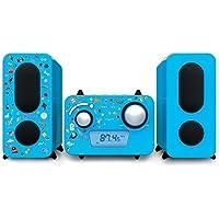Stereo Music Center MCD11 - Kids met 5 stickervellen, blauw