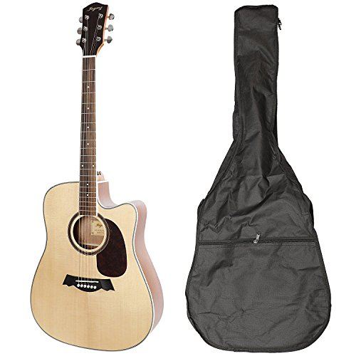 JAYMZ AG-41 series Beginner Acoustic Guitar Full Size 41'' Cutaway Guitar with Gig Bag, Solid spruce top acoustic guitar with sapele back and side full size (Cutaway w/p Matt) by Leo Jaymz