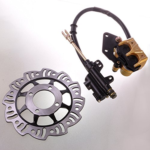Wotefusi Brand New Rear Brake System Brake Disc Rotor Disk Kit Set Dirt Pit Trail ATV Quads Buggies 125cc Parts