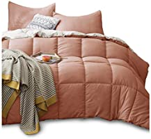 KASENTEX Down Alternative Quilted Comforter Set with Sham(s) - Reversible Ultra Soft Duvet Insert Hypoallergenic Machine...