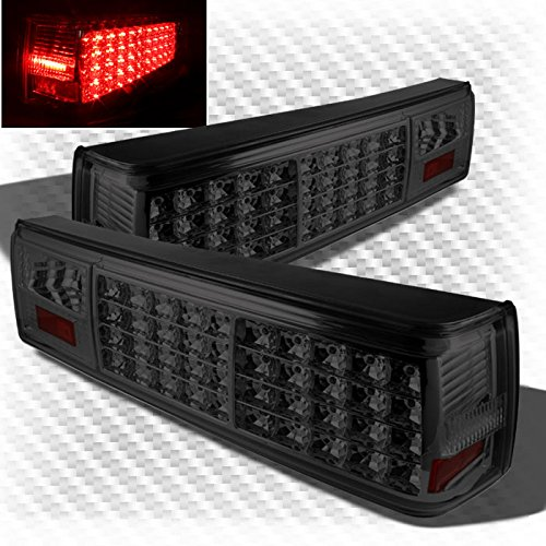 Xtune For Smoked 1987-1993 Ford Mustang LED Tail Lights Smoke Lamp New Pair Left+Right/1988 1989 1990 1991 1992 Smoked Tail Lights Mustang