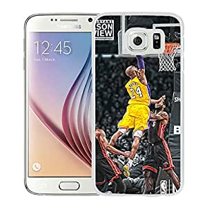 kobe bryant dunks White Samsung Galaxy S6 Screen Phone Case Genuine and Newest Design