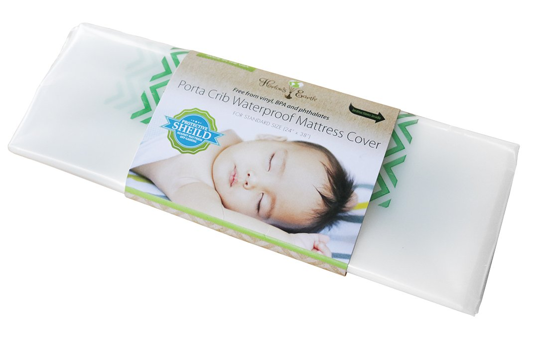Harlow's Earth PACK 'N PLAY Waterproof Mattress Cover- Toxic Gas Shield For Safe Sleep