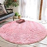 Alfombra Decorativa Junovo Para Niños 120x120 Cm -rosa