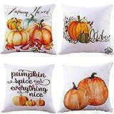 For Thanksgiving,Sunfei 4PC Thanksgiving Cover Decor Pillow Case Sofa Waist Throw Cushion Cover 18''x18'' (Orange)