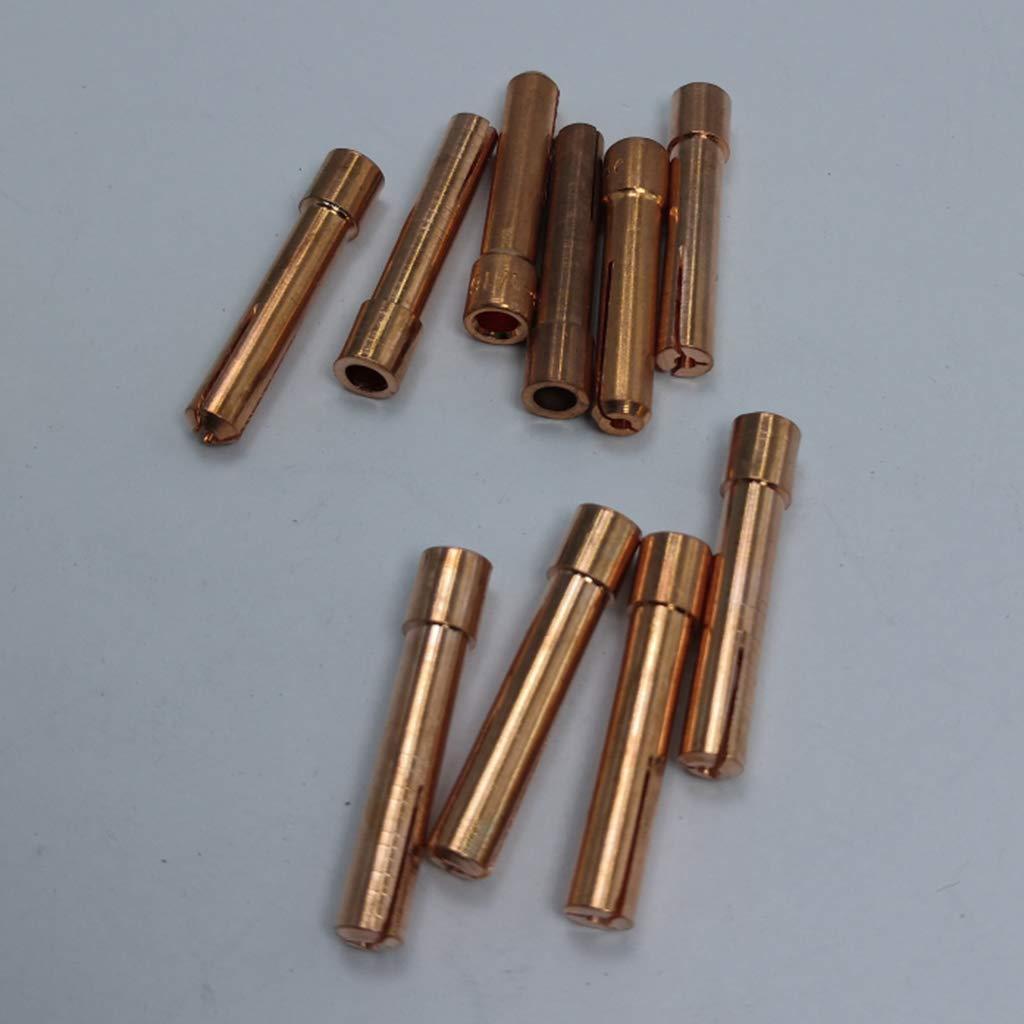 2.4mm B Baosity 10pcs Cuerpo de Cobre Boquilla para Soldar con Abertura de Di/ámetro 1.6//2 2.4 mm 30mm