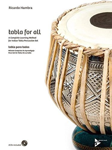Tabla for All: A Complete Learning Method for Indian Tabla Percussion Set (English/Spanish Language Edition), Book & 2 CDs (Advance Music)