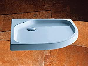 Kaldewei - Plato de ducha de acero ambiente fontana 569-1 antislip 1000x1000x65mm alpinweiss