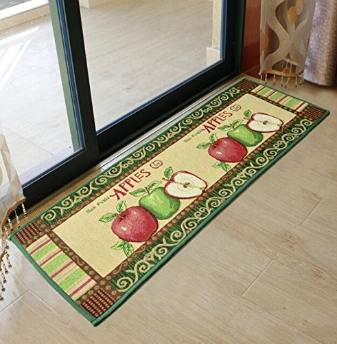 Ustide 2 Piece Vintage Style Apple Kitchen Rug Set Anti