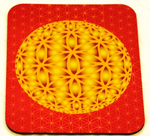 Unconditional Love - Hologram of Love Spiritual Art Mouse Pad Sacred Art Featuring the Hologram of Love the 3-d Representation of the Flower of Life Which Allows Deep Spiritual Healing (3 Flowers Healing)