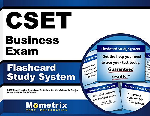 CSET Business Exam Flashcard Study System: CSET Test Practice Questions & Review for the California Subject Examinations for Teachers (Cards)