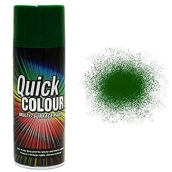 Quick Colour AE0220206E8 Spray Paint, Meadow Green Tor Coatings Ltd