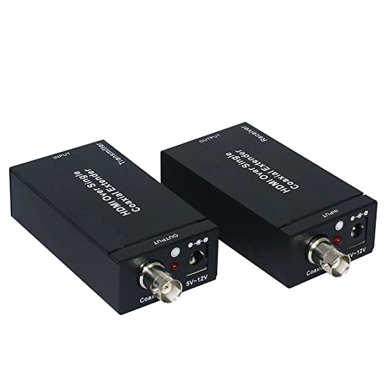 Qjoy - Transmisor y receptor HDMI extensible a través de un solo transmisor coaxial IR TX RX HDMI con cable: Amazon.es: Electrónica