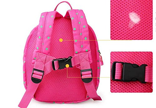 Treasure-house beb/é anti-lost cinturones Cartoon Color Rosa Oso Beb/é correas bolsa mochila rosa