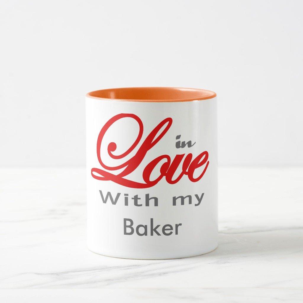 Zazzle in Love with my Baker旅行マグ 11 oz, Combo Mug オレンジ c283971f-2bf1-6245-a627-462f9523f561 B078VXW93G  オレンジ 11 oz, Combo Mug