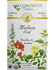 Celebration Herbals Mullein Leaf Tea Organic 24 Tea Bag, 22gm