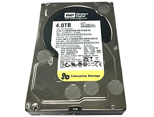 Western Digital RE WD4000FDYZ 4TB 64MB Cache 7200RPM SATA 6.0Gb/s 3.5'' Internal Enterprise Hard Drive - w/ 1 Year Warranty by Western Digital